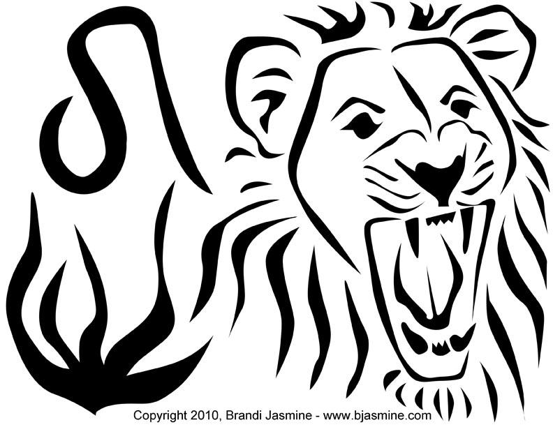 792x612 Leo Zodiac Sign Pumpkin Carving Pattern