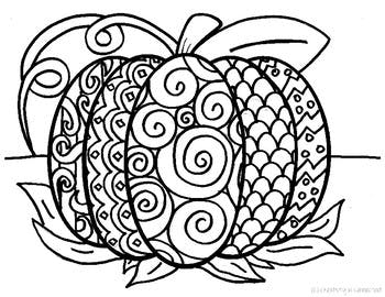 350x270 Pattern Pumpkin Coloring Page By Creativity In Connecticut Tpt