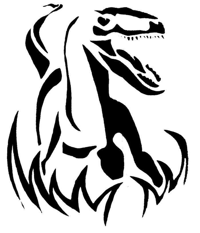 699x815 Velociraptor Pumpkin Carving Pattern