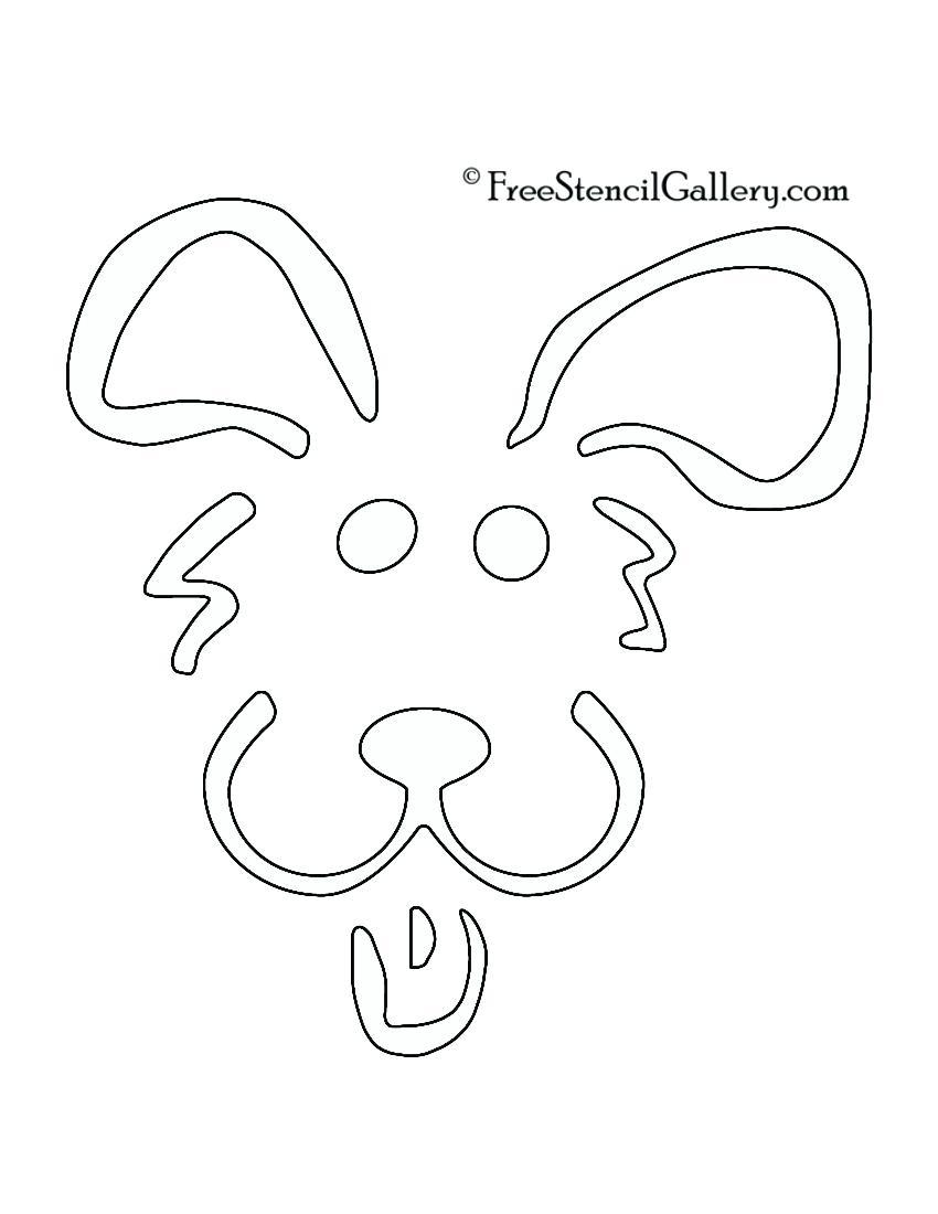 850x1100 Printable Easy Printable Pumpkin Carving Patterns Dog Stencil