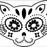 200x200 Free Beautiful Skull Pumpkin Carving Stencil 2015 Holidays