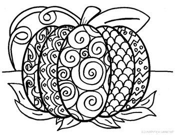 350x270 Pattern Pumpkin Coloring Page, Creativity In Connecticut
