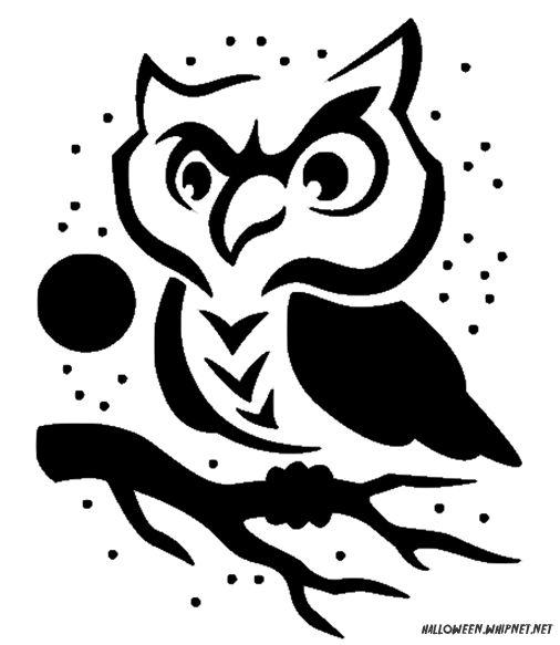 Pumpkin drawing patterns at getdrawings free for personal use 506x583 printable pumpkin carving patterns cute owl pumpkin carving maxwellsz