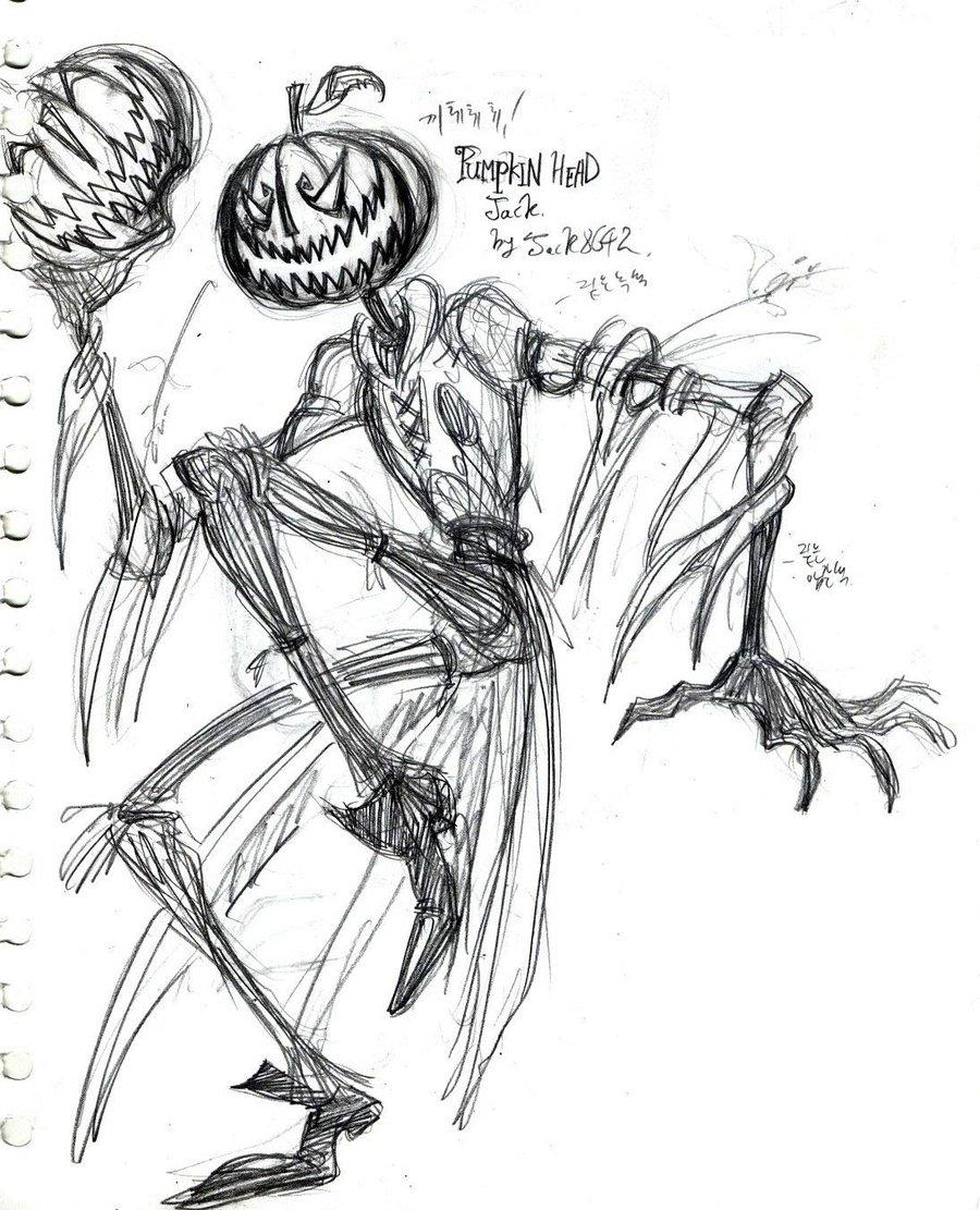 900x1111 Drawn Pumpkin Pumpkin Head