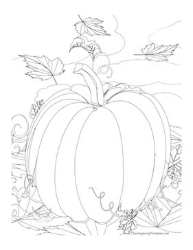 281x364 Drawn Pumpkin Thanksgiving