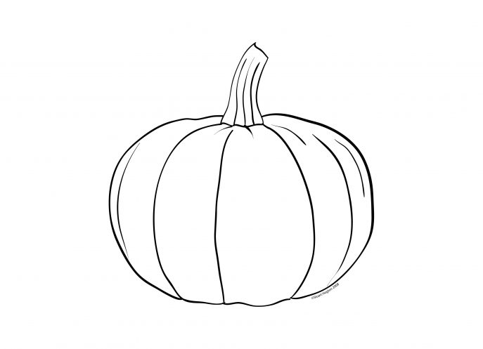 687x497 Coloring Pages Dazzling Pumpkin Color Sheet Patch Coloring Page