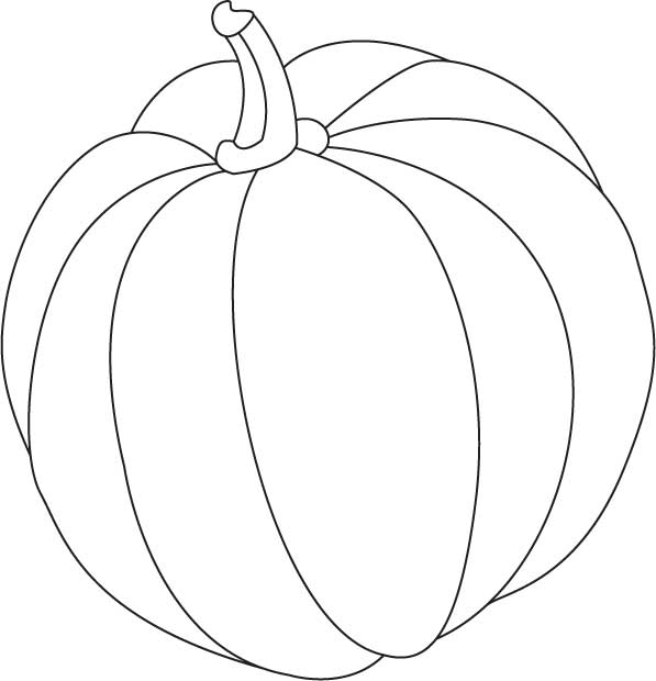 597x620 Pumpkin Line Drawing