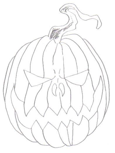 393x520 Wayne Tully Fantasy Art Drawing A Halloween Fantasy Pumpkin