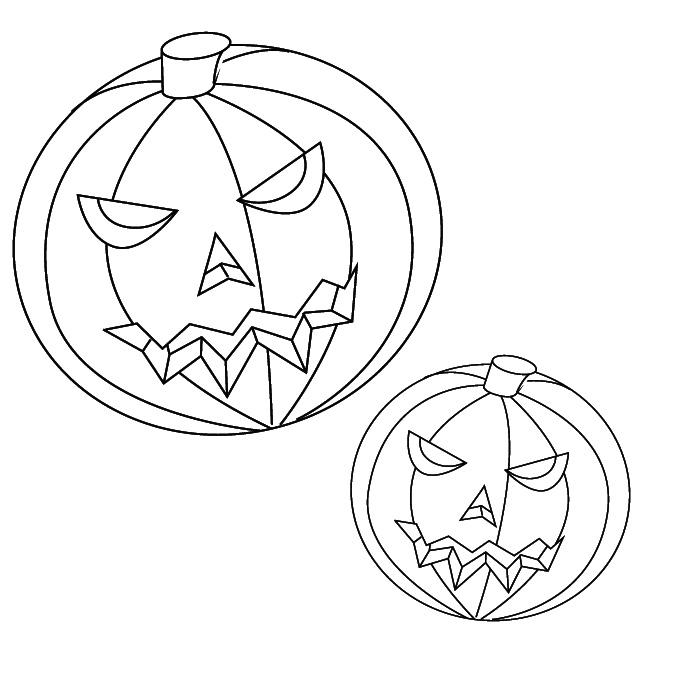 700x700 Coloring Pumpkin