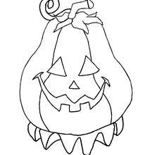 220x220 Haunted Pumpkin Coloring Pages