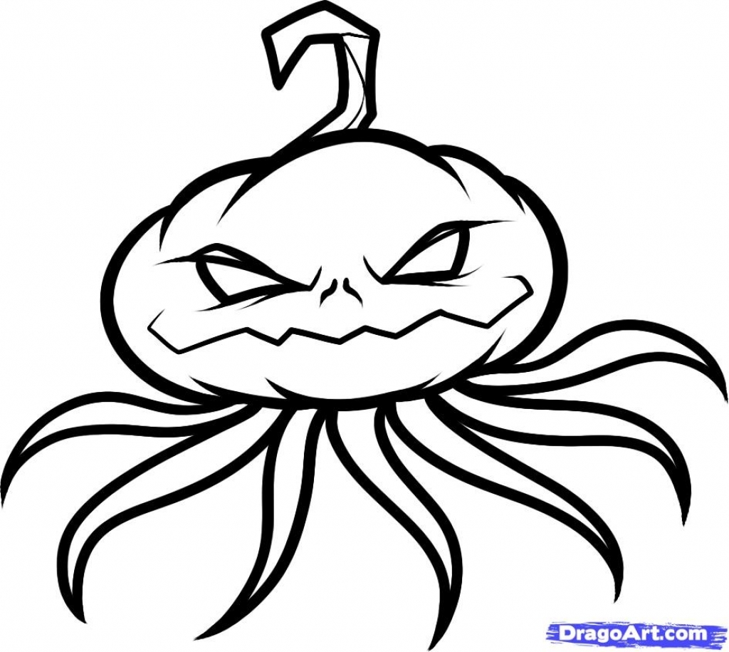 1024x915 How To Draw A Pumpkin Face How To Draw A Pumpkin Head Pumpkin Head
