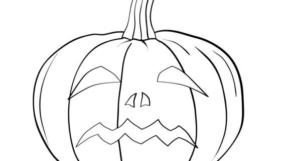 570x320 How To Draw A Pumpkin Face Pumpkin Face Colouring