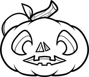 302x262 How To Draw A Pumpkin Face, Pumpkin Face