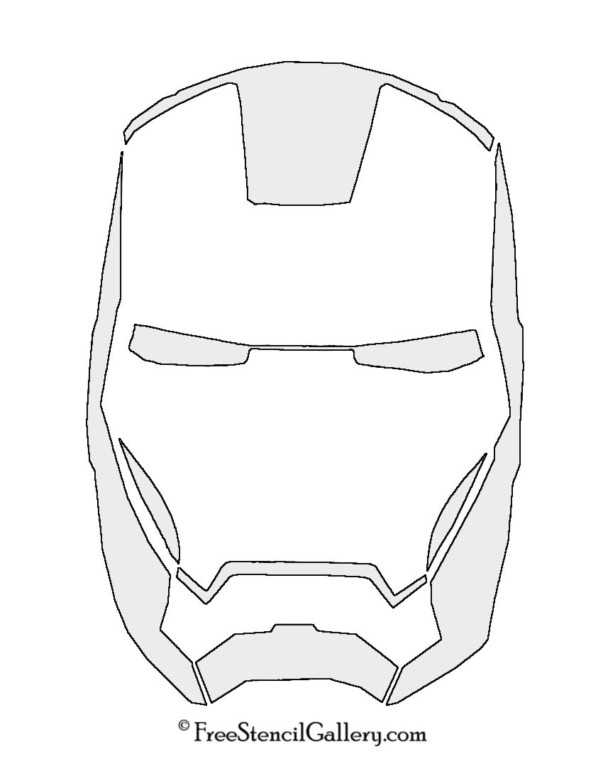 850x1100 Iron Man Face Coloring Pages