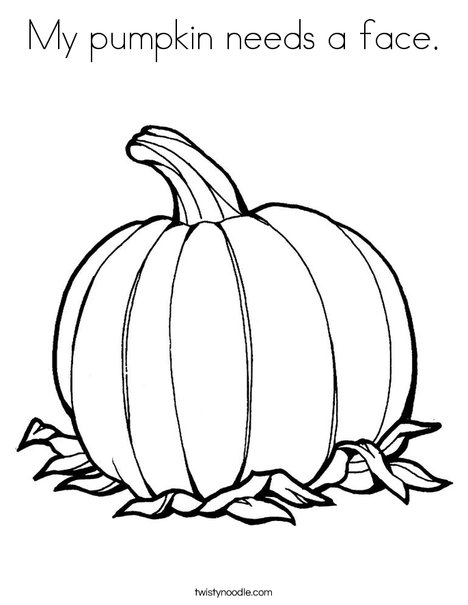 468x605 My Pumpkin Needs A Face Coloring Page