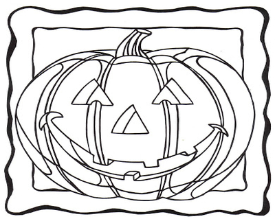 400x322 Pumpkin Face Coloring Sheet Faces Pages