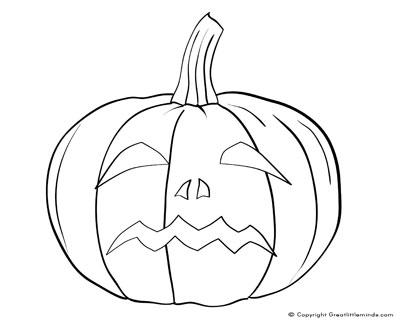 400x324 Pumpkin Face Colouring