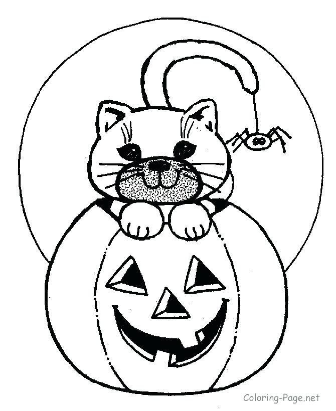 670x820 Pumpkin Faces Coloring Pages A Pumpkin With Vines And Leaves Scary