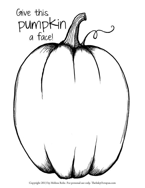 Pumpkin Faces Drawing at GetDrawings | Free download