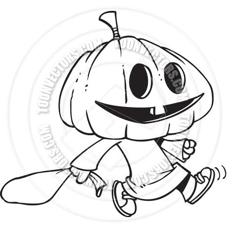 Pumpkin Head Drawing