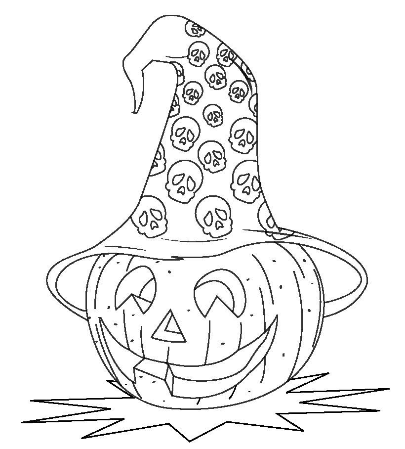 820x908 Halloween Coloring Pages Of A Pumpkin Head Hallowen Coloring
