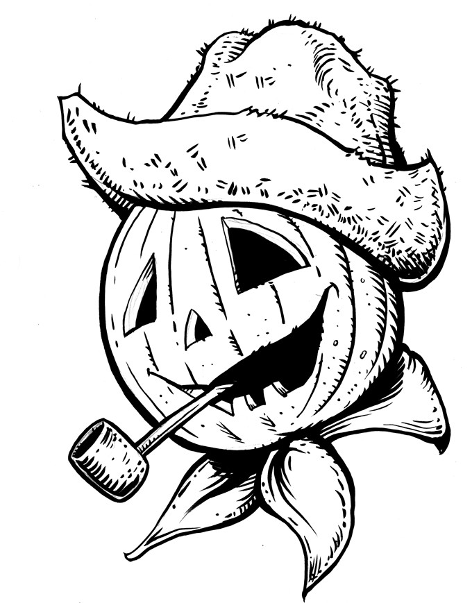 680x869 Pumpkin Head Coloring Page By Mjbivouac