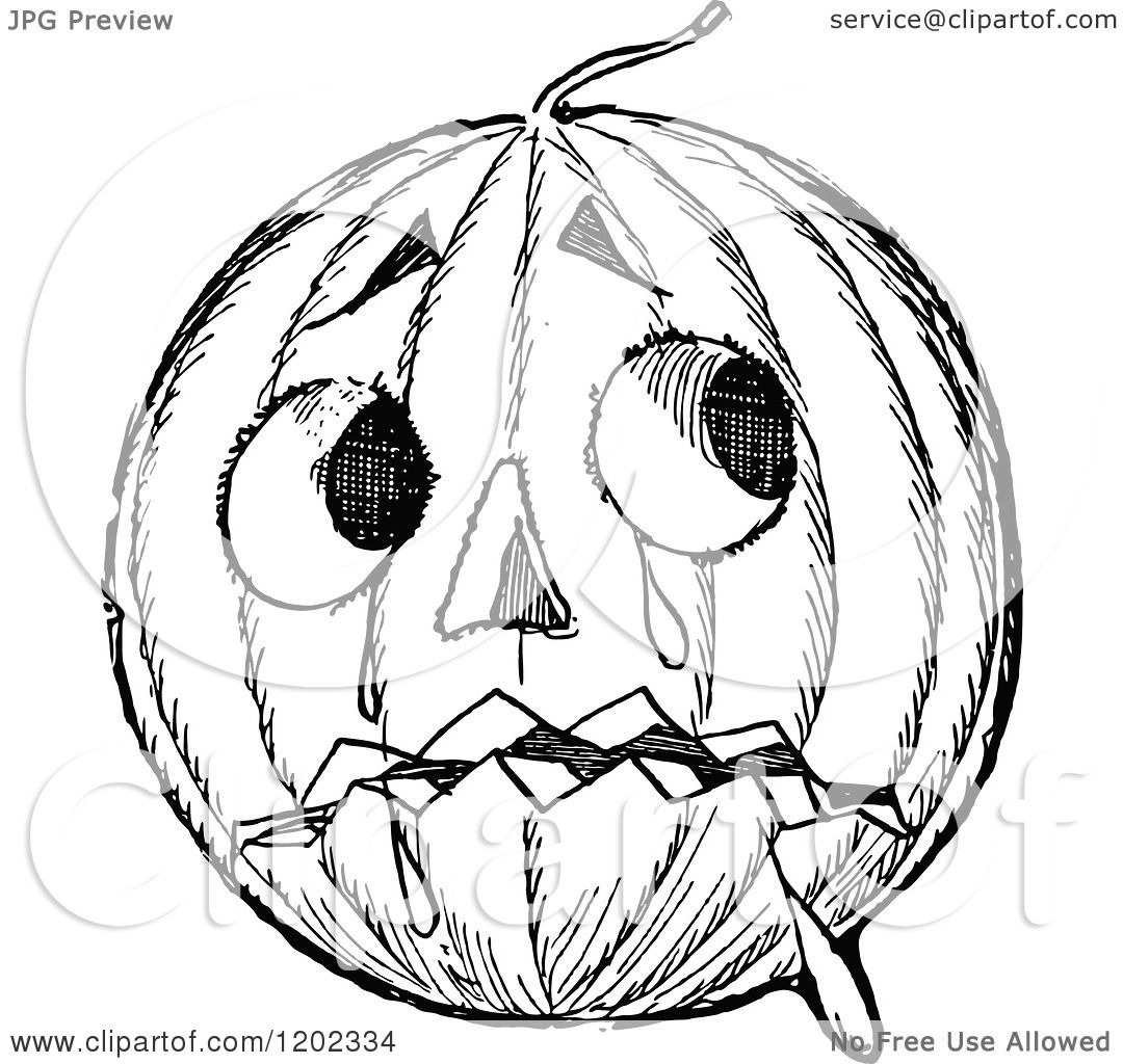1080x1024 Clipart Of A Vintage Black And White Emerald Oz Pumpkin Head