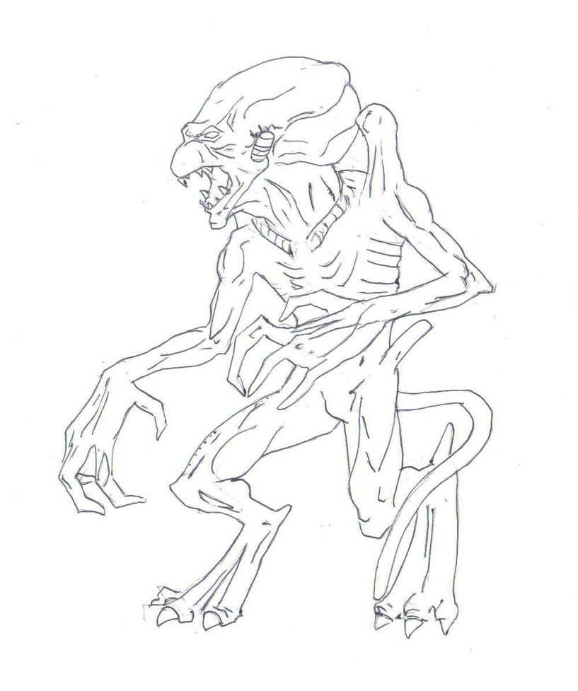 817x977 Pumpkinhead Drawing By Electronicdave