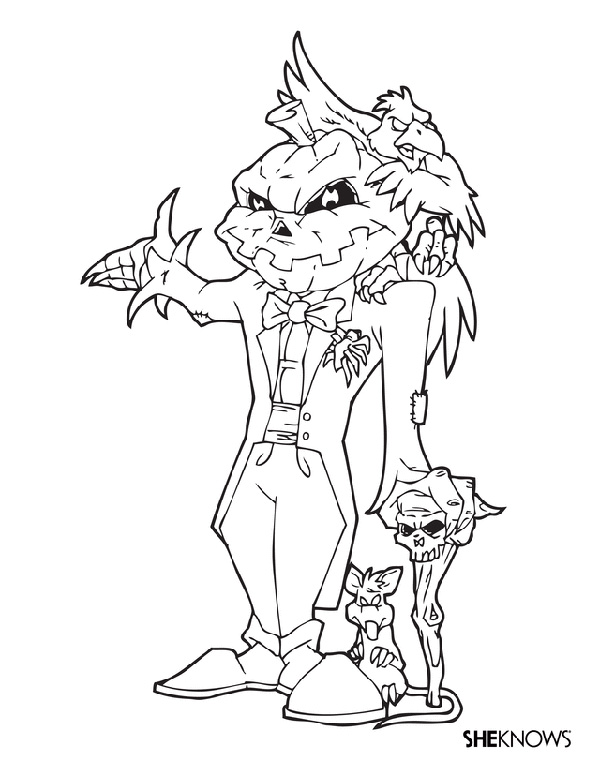600x776 These Halloween Coloring Pages Are The Perfect Antidote To Fall