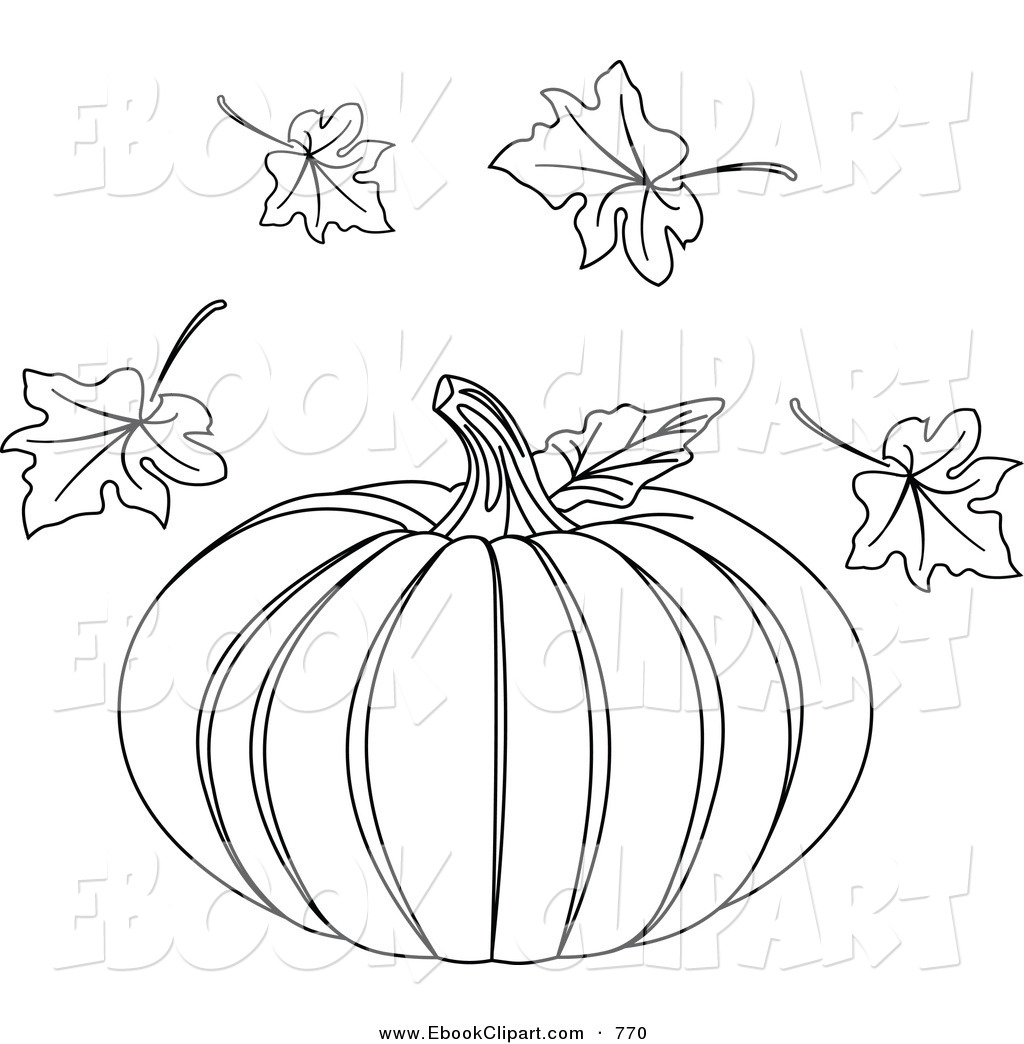 Pumpkin Leaves Drawing at GetDrawings.com | Free for personal use ...