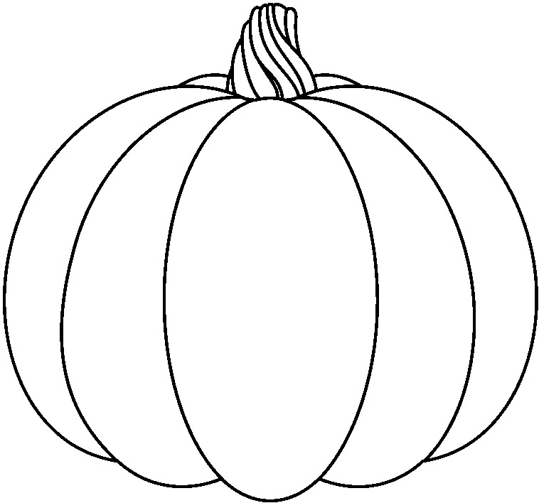 758x708 Pumpkin Black And White Pumpkin With Dotted Lines Clipart Black