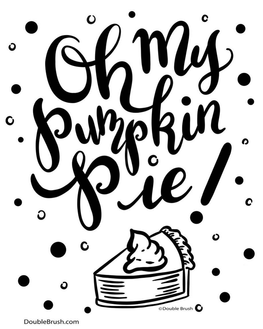 918x1148 Oh My Pumpkin Pie! For The Love Of Pie, Especially Pumpkin. I Drew
