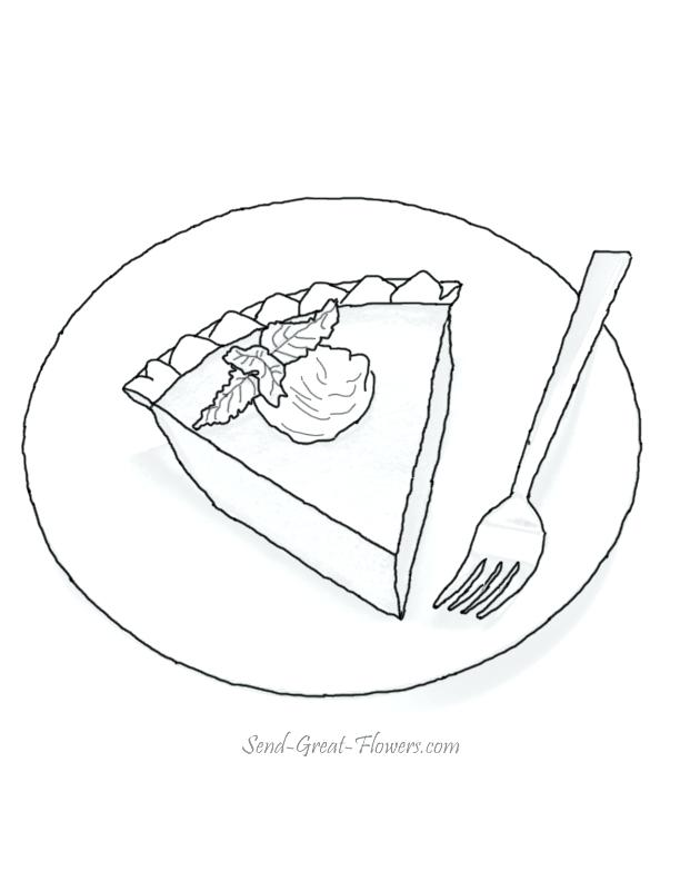 612x792 Pie Coloring Pages Thanksgiving Pumpkin Pie Coloring Page To Color