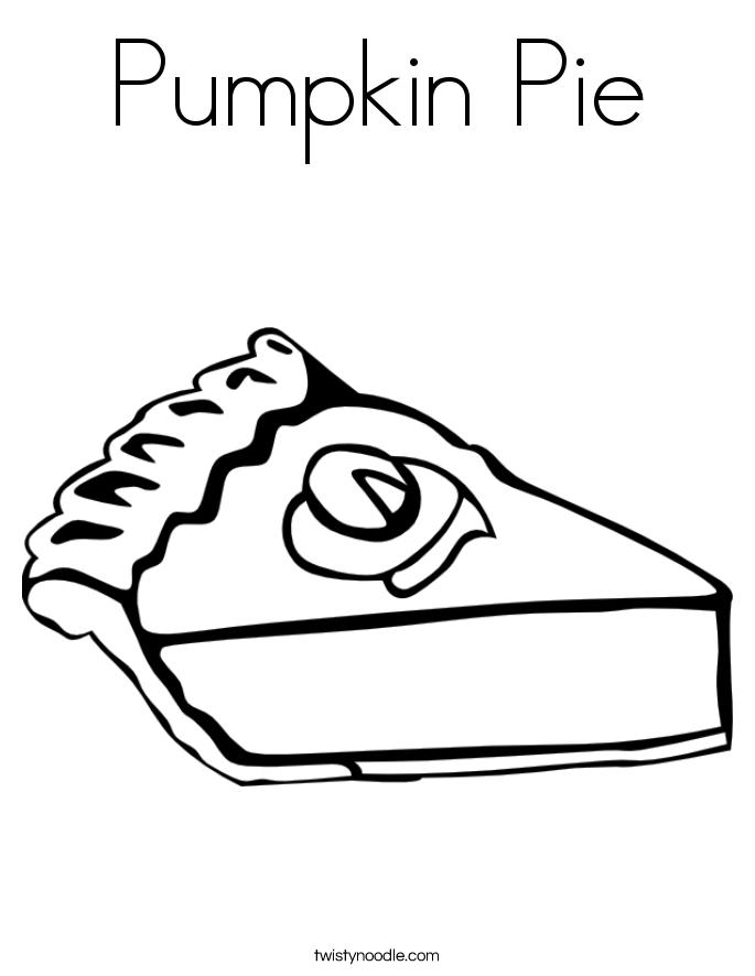 685x886 Pumpkin Pie Coloring Page