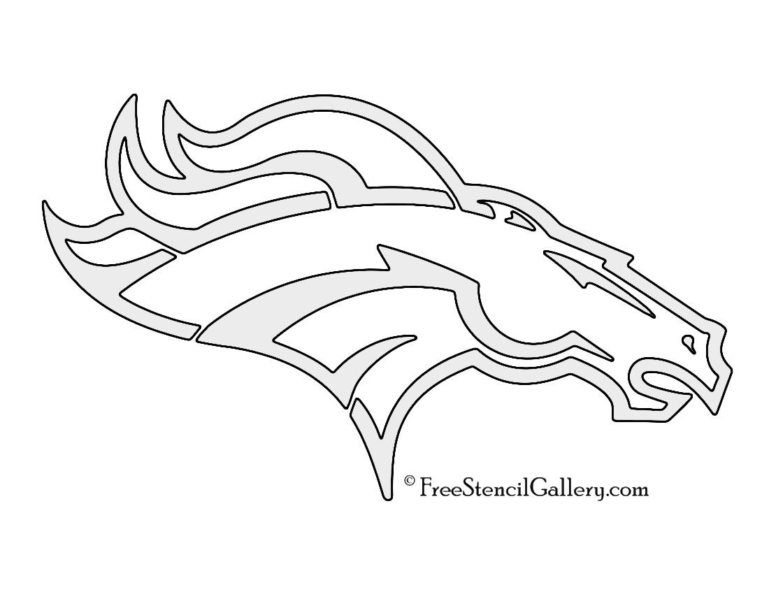 1100x850 Nfl Denver Broncos Stencil Free Stencil Gallery