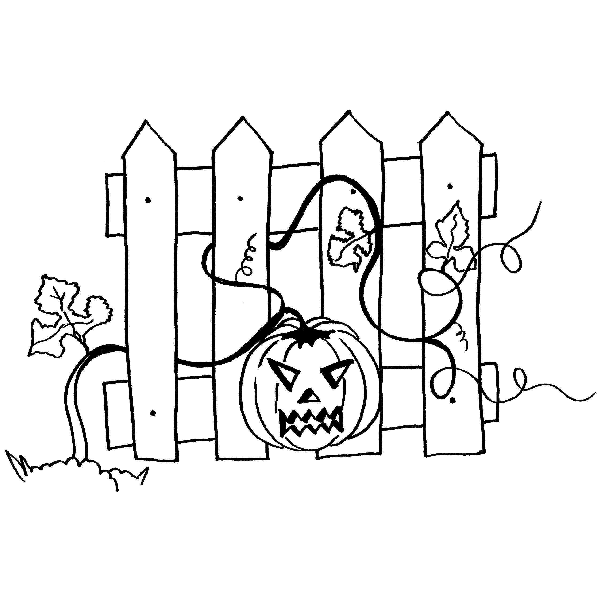2560x2560 Pumpkin Vines Coloring Page For Kid To Print