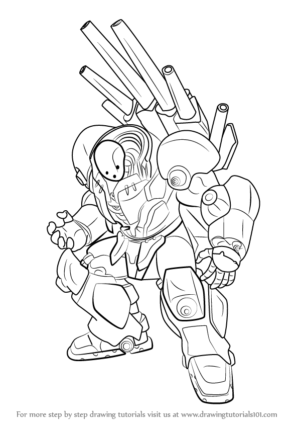 596x843 Learn How To Draw Metal Knight From One Punch Man (One Punch Man