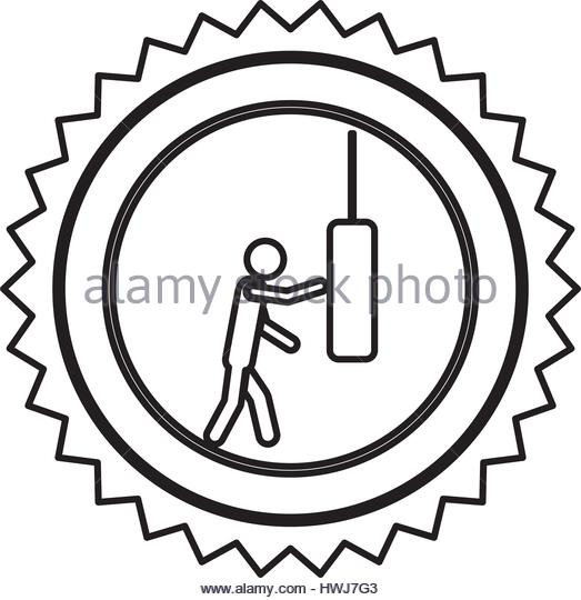 523x540 Punching Bag Stock Vector Images