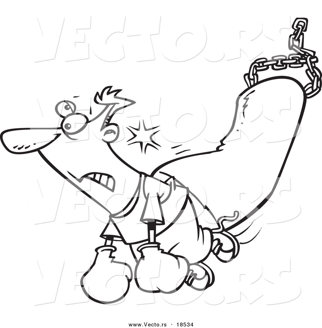1024x1044 Vector Of A Cartoon Man Being Knocked Out By A Punching Bag