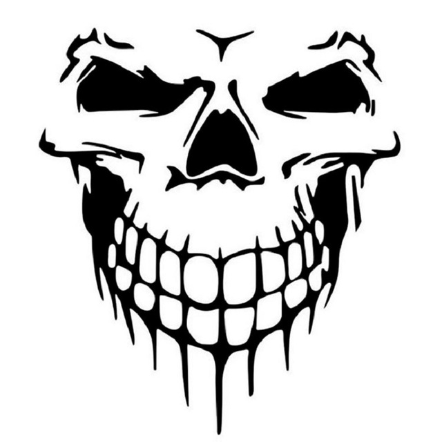 640x640 1pc Large Size 40x36 Cm Punisher Skull Head Car Sticker Engine