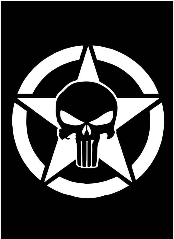570x779 Punisher Skull American Patriot Police Window Sticker Decal