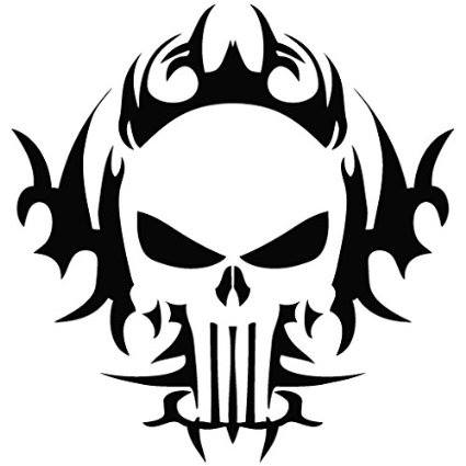425x425 Punisher Skull Tribal Decal Httpamzn.to1navhf8