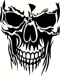 237x300 Skull Die Cut Vinyl Decal Sticker Window Car Truck Atv Utv Bumper