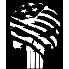 240x240 Punisher Skull Flag America Usa Military Vinyl Decal