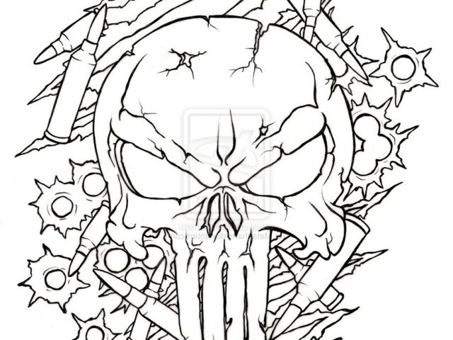 The Best Free Punisher Drawing Images Download From 63 Free