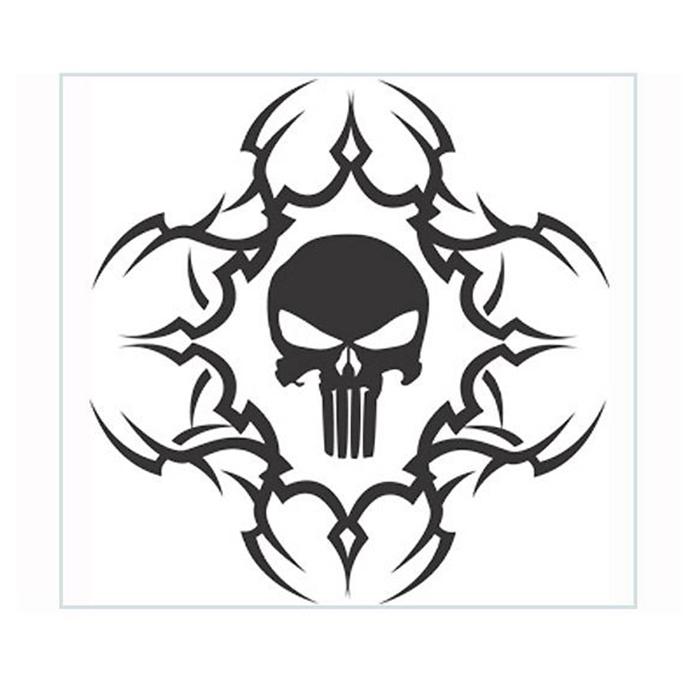 700x700 Tribal Black Sticker