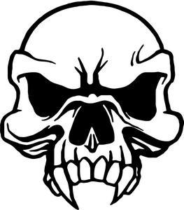 263x300 Vampire Death Skull Decal