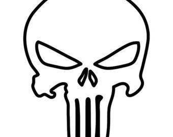 340x270 Punisher Skull Outline Patterns