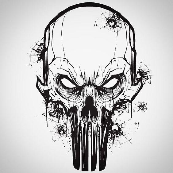 564x564 Evil Skull Drawings Tattoo Art Skull Drawings