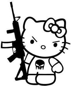 244x295 Hello Kitty Ak 47 Punisher Skull